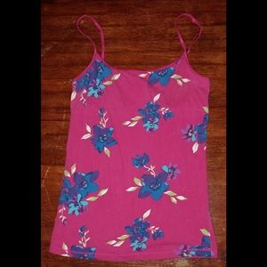 AEROPOSTALE stretchy floral pink cami tank top